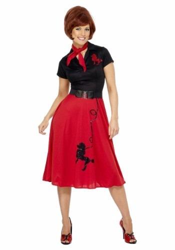 disfraz retro grease vaselina 50's 60's rock and roll damas