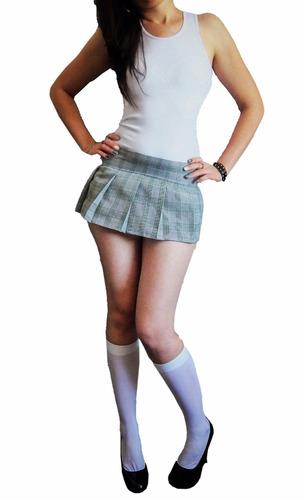 disfraz sexy colegiala falda tableada secundari medias blusa