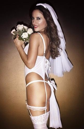 disfraz  sexy de novia  modelo exclusivo .!