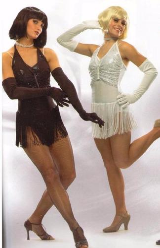disfraz show girl chicago blanco o negro