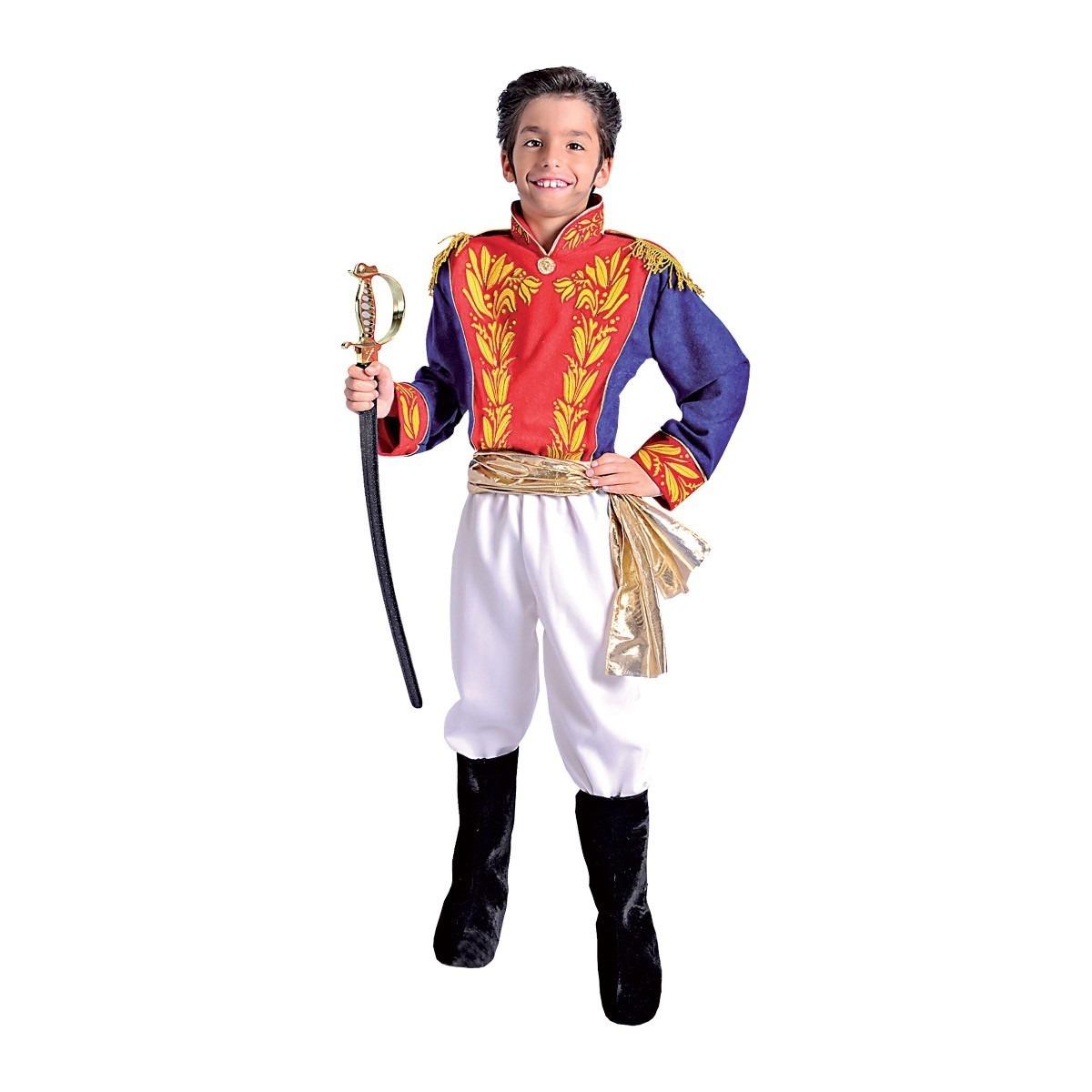 Disfraz Simón Bolívar Niño Tallas 6810 Y 12