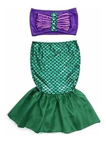 Vestido Rapido Envio Disfraz Sirenita Ariel Princesa Traje CerdBoxW