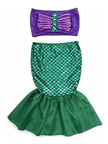 Disfraz Sirenita Ariel Princesa Vestidos Fiesta Traje Envio Rapido