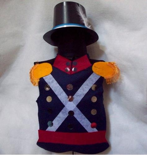 disfraz soldado patricio peche galera 1-4 años brovillnet