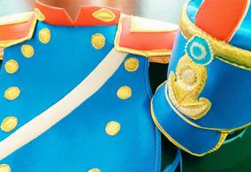 Disfraz Soldado Patrio Granadero Pechera Doble Y Gorro