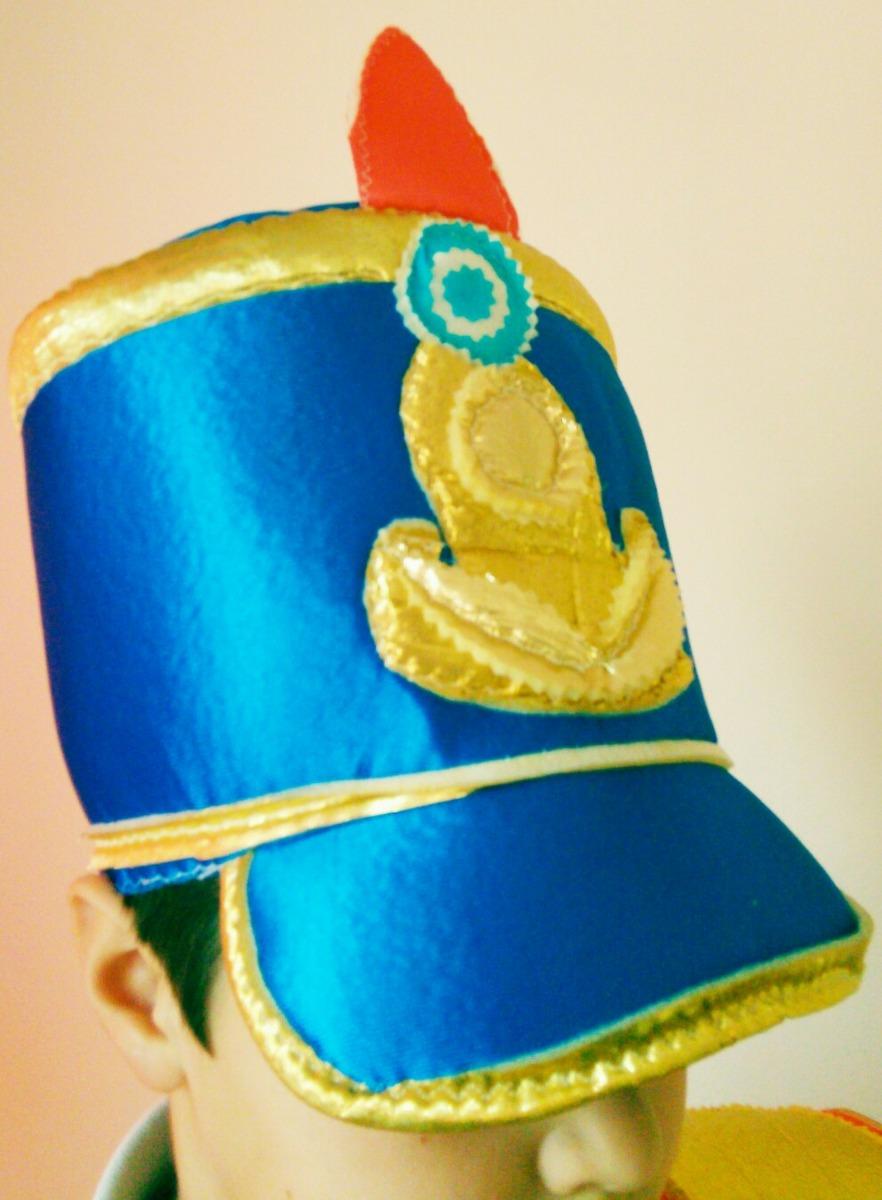 Disfraz Soldado Patrio Granadero Pechera Y Gorro -   690 b072c1c60a7