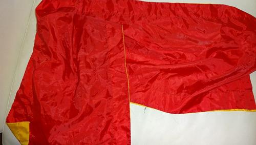 disfraz soldado romano casaca rojo amarillo realista gladiad