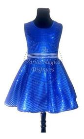 Disfraz Soy Luna Vestido Azul Varita Magica Disfraces