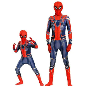Disfraz Spiderman Hombre Araña 2019 Con Guantes Y Mascara