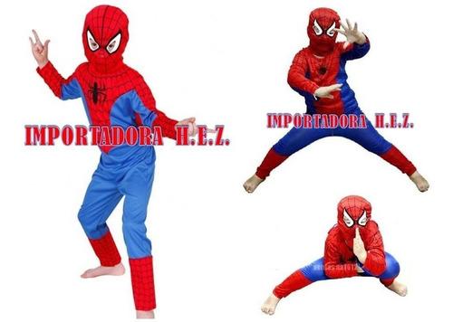 disfraz spiderman niño carnaval hombre araña envio venezuela