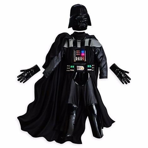 disfraz star wars dark vader c/luz disney store 2016 t9/1012