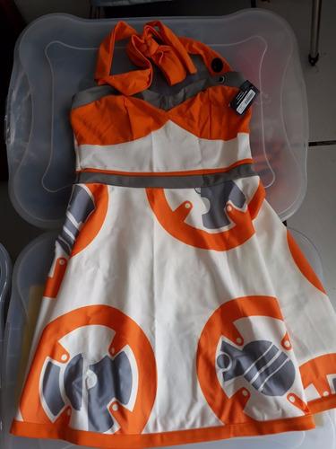 disfraz starwars bb8 vestido talla m heruniverse nuevo