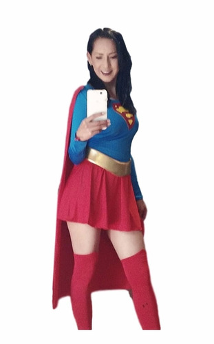 disfraz super girl talla chica en lickra