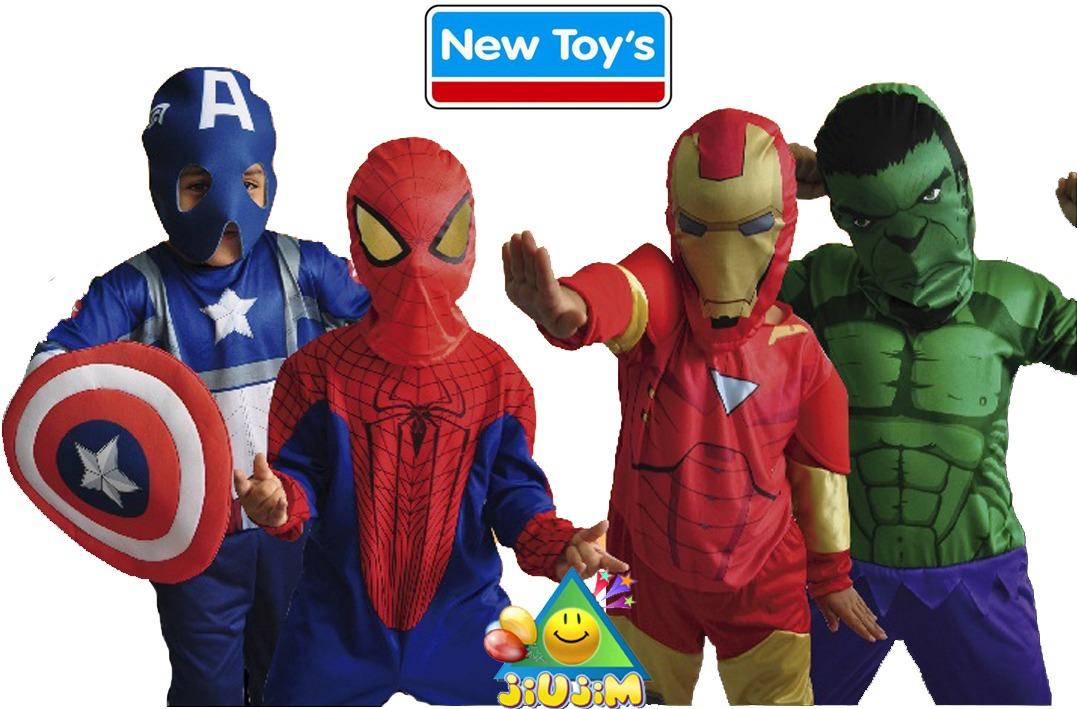 disfraz super heroes originales avengers spiderman jiujim