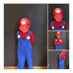 Disfraz Super Mario Bros Y Luigi Niños
