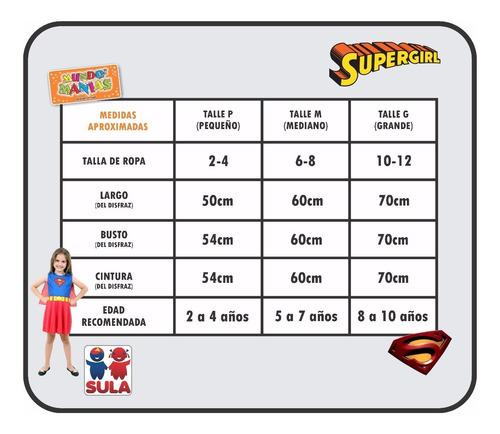 disfraz superchica supergirl orig. sulamericana mundo manias