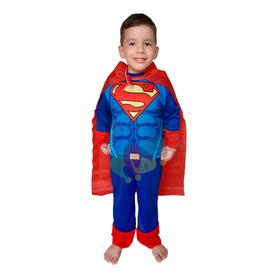 Disfraz Superman Hombre De Acero Con Capa