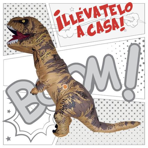 disfraz t-rex tiranosaurio dinosaurio niño rex inflable