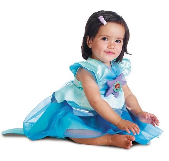 Disfraz Talla 12 A 18 Meses Disney Sirenita Ariel Nina Bebe