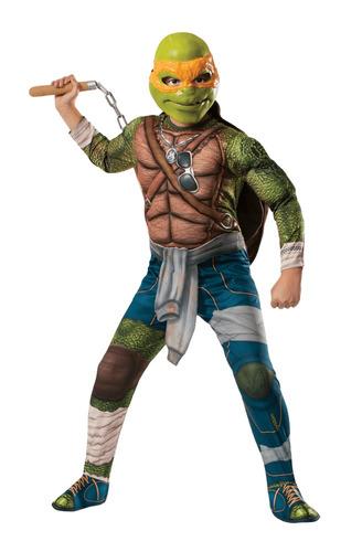 disfraz tortugas ninja miguel angel 10/12 años entrega inmed