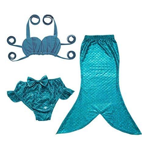 100% autentico dd8eb a339b Disfraz Traje Baño Sirena Halloween 2 Niña Talla 3-4 Jfeele