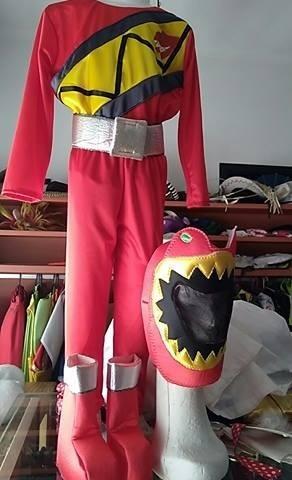 disfraz traje power  ranger  dino charge rojo talle 6