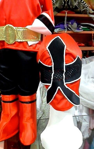disfraz traje power  ranger  samurai talle 8