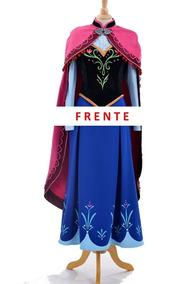 Disfraz Traje Vestido Ana Anna Frozen Princesa Disney