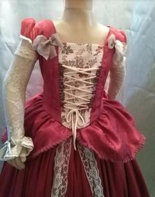 Disfraz Traje Vestido De Epoca Dama Antigua