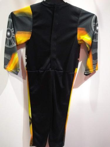 disfraz transformers bumblebee talle 1-2-3-4