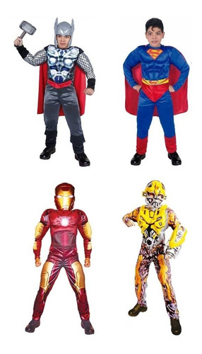 disfraz transformes thor hulk spiderman iron man