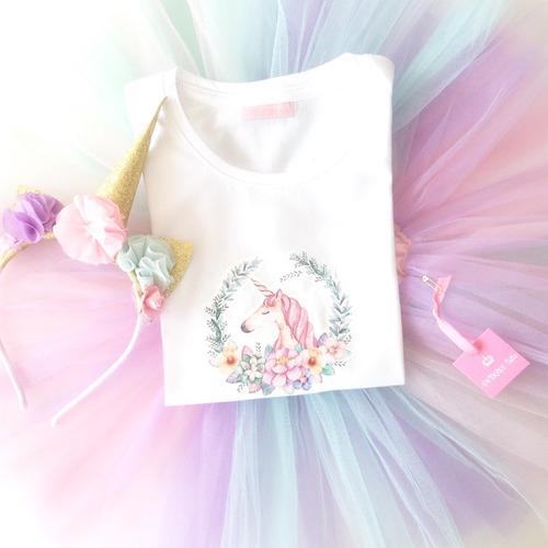disfraz unicornio cumpleaños  multicolor manga larga