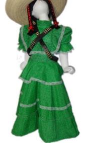 Disfraz Vestido Adelita Revolución Mexicana Para Niña