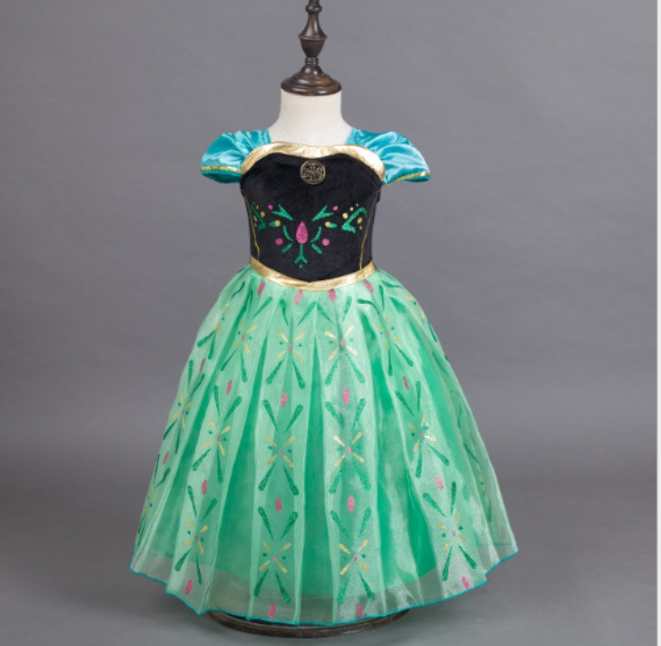 Disfraz Vestido Ana Frozen Princesas Disney Elsa Nina Anna