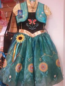 Disfraz Vestido Ana Girasol Incluye Moño Girasol