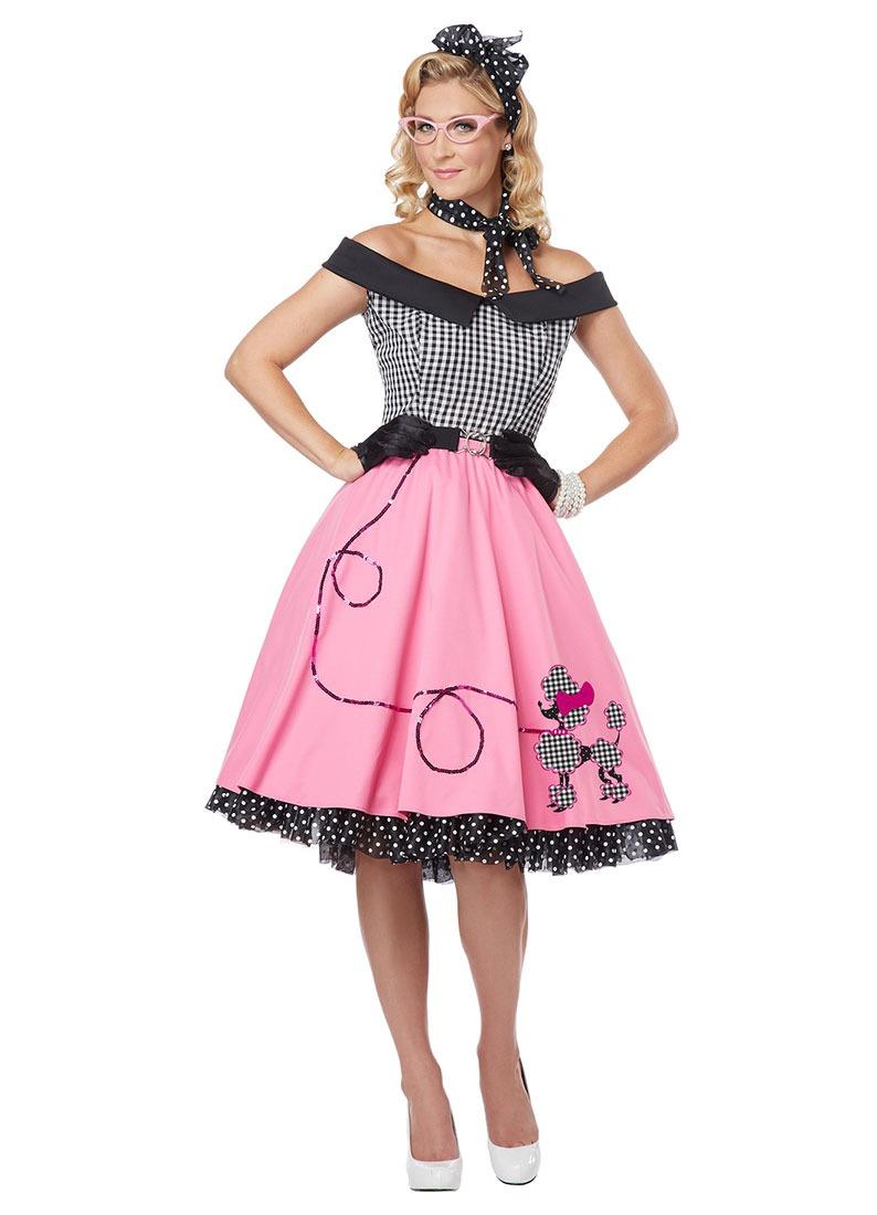 Disfraz Vestido Años 50 Para Mujer 71f01e75bd9