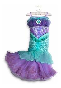 Vestido Sirenita T4 Disney Original Ariel Store La Disfraz rWdCxeBQo