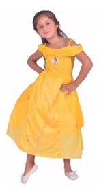 Disfraz Vestido Bella Y Bestia Con Luz Princesa Disney