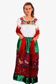 Disfraz Vestido China Poblana Adulto Completo