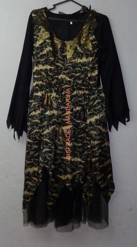 disfraz vestido de bruja talla m de adulto