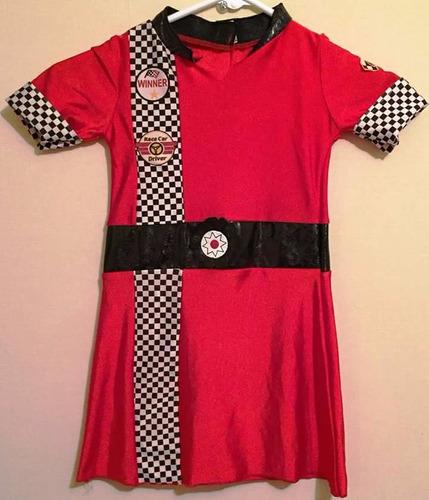 disfraz vestido de corredora de autos talla 4