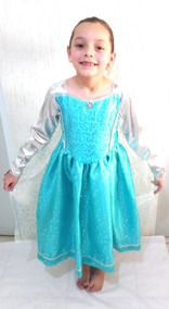 Disfraz Vestido De Elsa Frozen Disney Para Niña