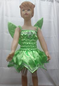 Disfraz Vestido De Hada Campanita Tinkerbell