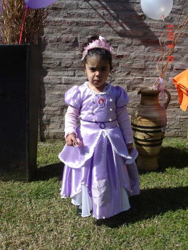 disfraz , vestido de la princesita sofia