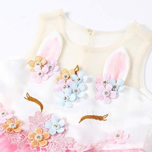 disfraz vestido de unicornio para niñas tutu rosa freeprance