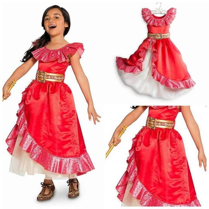 Princesa Talla Elena Avalor De Disney 78 Disfraz Vestido XnPN8O0kw