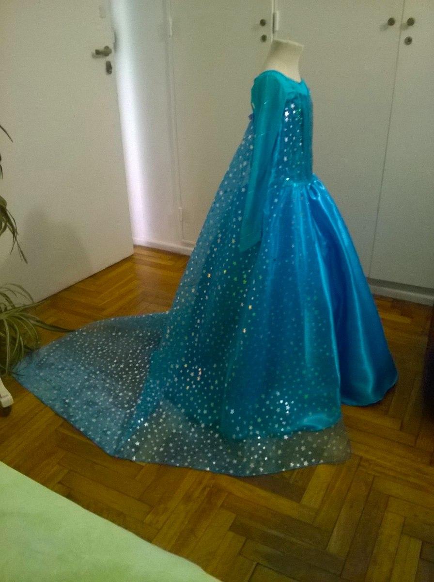 Disfraz Vestido Elsa Frozen Barbie Princesas Con Enagua