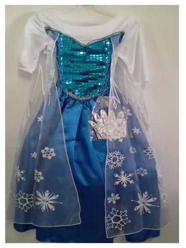 disfraz vestido elsa frozen princesa ana bella sofia disney