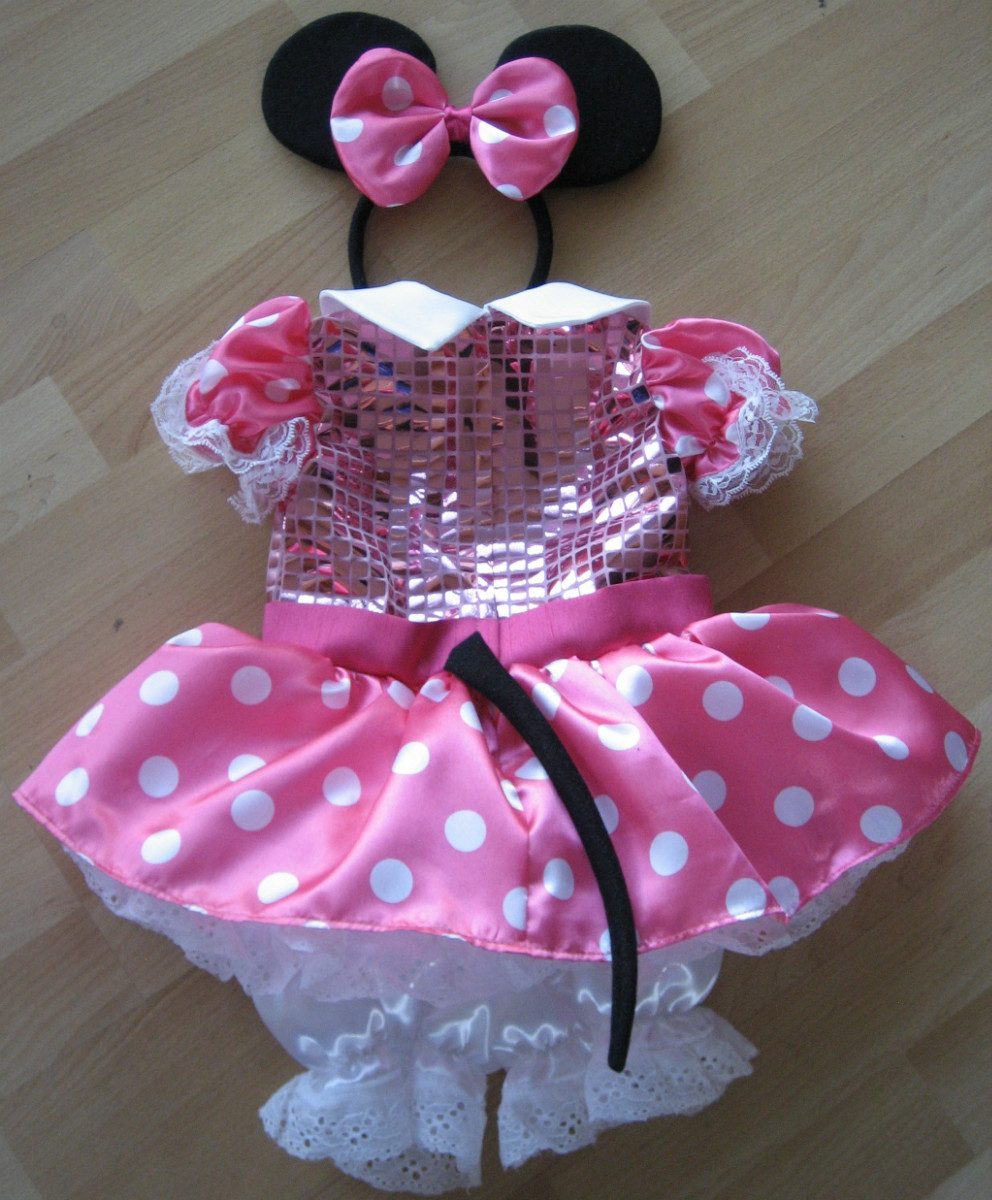 Hermosa Vestidos De Fiesta De Color Rosa Para Los Bebés Friso ...