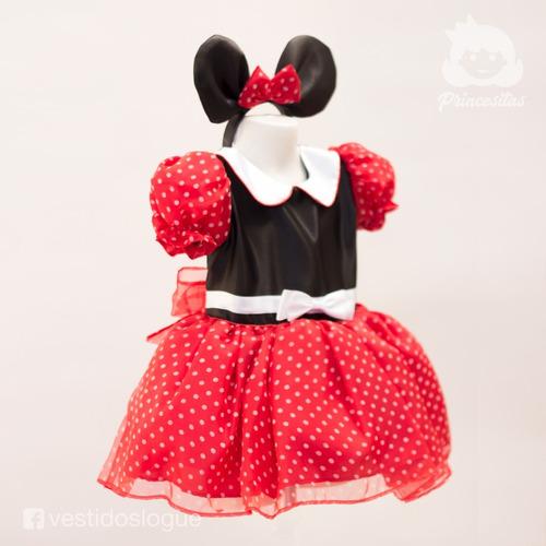 disfraz vestido minnie mouse princesa rojo